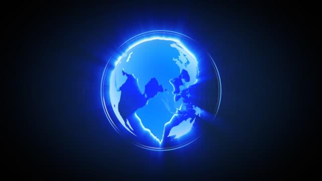 LOOPable Shiny Globe Turning Animation
