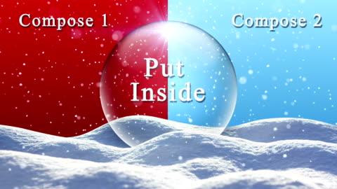 loopable snö landskap - snowjordklot - snöflinga bildbanksvideor och videomaterial från bakom kulisserna