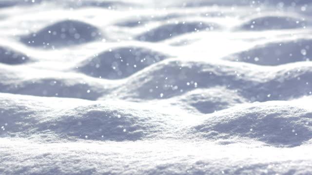 endlos wiederholbar schneefall landschaft - schneien stock-videos und b-roll-filmmaterial