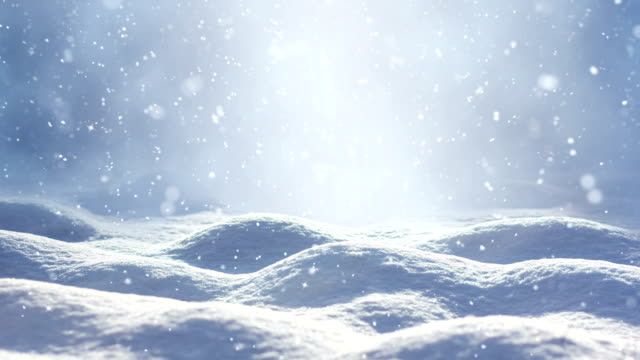 loopable snow landscape - snowing stock videos & royalty-free footage
