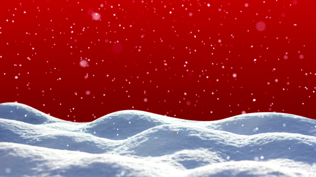 loopable snow landscape - greeting card stock videos & royalty-free footage
