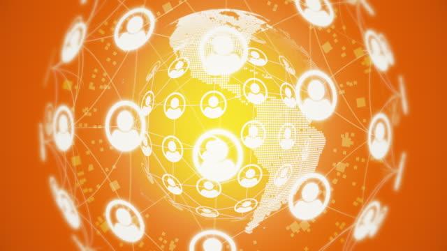 vídeos de stock e filmes b-roll de loopable social network connection - empregado