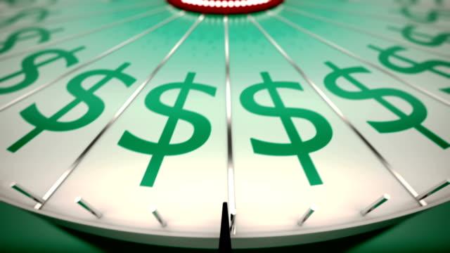 ループスピニング wheel of fortune 、ドルです。 - 宝くじ点の映像素材/bロール