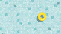 Loopable summer swimming pool animation with inflatable ring