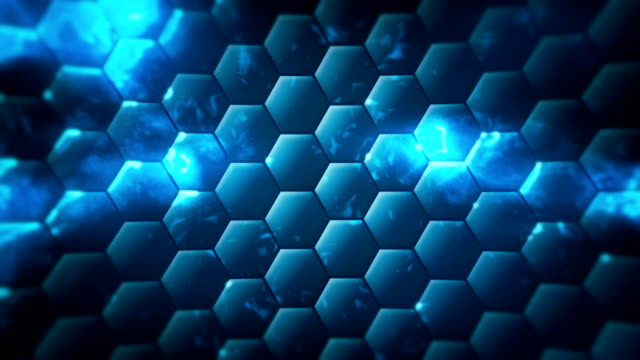 loopable technology hex background - nanotechnology stock videos & royalty-free footage