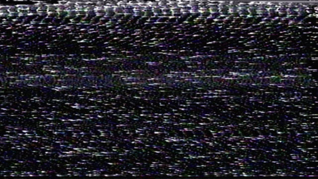 loopable television glitch pattern - distorto video stock e b–roll