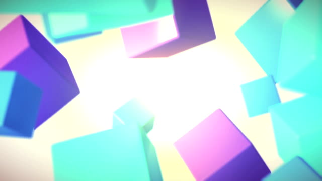endlos wiederholbar dreidimensionale fünf hintergründe - fünf gegenstände stock-videos und b-roll-filmmaterial