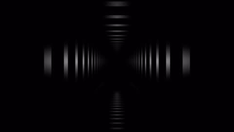 loopable tunnel hall. abstrakt geometri. - boningsrum bildbanksvideor och videomaterial från bakom kulisserna