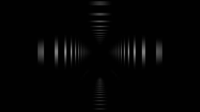 loopable tunnel hall. abstract geometry. - infinity stock videos & royalty-free footage