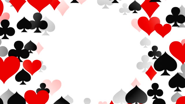 loopable tunnel of aces, diamonds, hearts, spades, poker, blackjack, gambling - casino stock videos & royalty-free footage