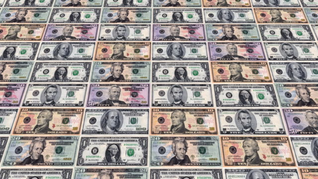 loopable, usa, american money currency - american one dollar bill stock videos & royalty-free footage