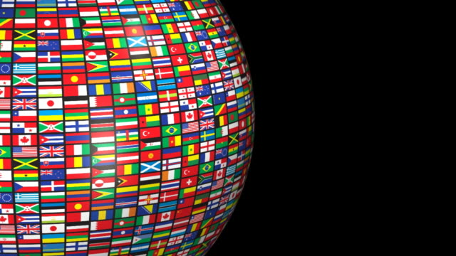 stockvideo's en b-roll-footage met loopable, world flags (alpha channel) - nationale vlag