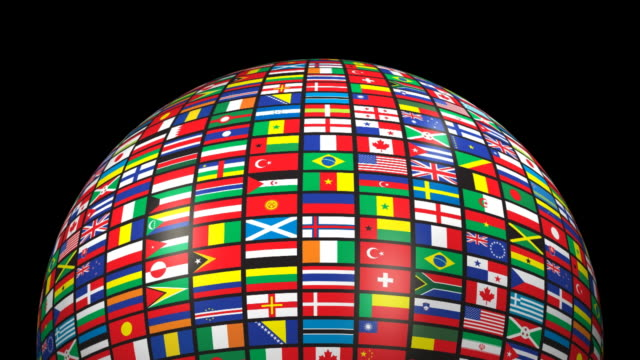loopable, world flags (alpha channel) - group of 20 stock videos & royalty-free footage
