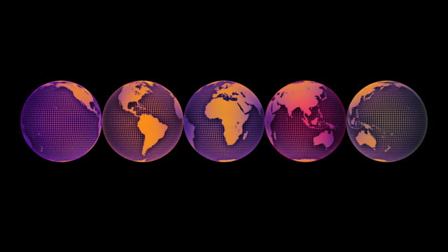 loopable, worldwide - longitude stock videos & royalty-free footage