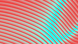 Looped animation. Abstract colorful wavy background in bright red and blue colors.