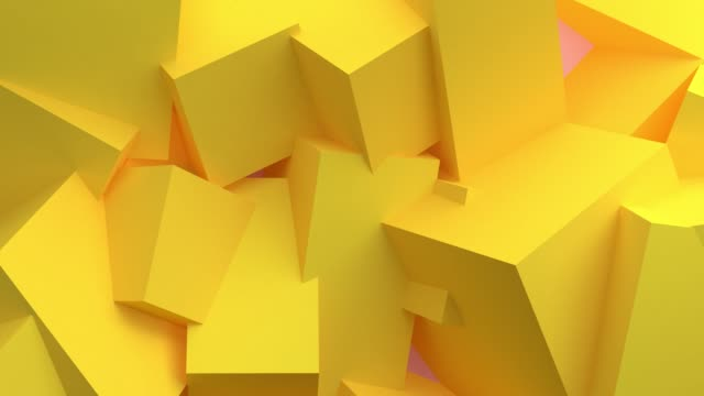 looped yellow box geometric 3d rendering for background. concept: abstract background, motion graphic, party. - sphere stock videos & royalty-free footage