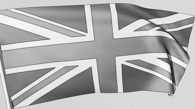 a looping, animated engraving of the union jack - 18th century style stock videos & royalty-free footage