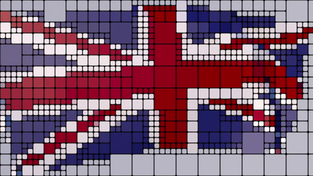 un'astrazione in loop e animata e piastrellata dell'union jack - scottish culture video stock e b–roll