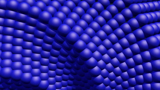 a looping animation of a rotating background core of blue spheres - genetic research stock videos & royalty-free footage