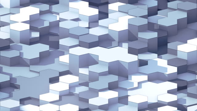 looping animation of hexagonal honeycomb pattern. modern black and white forms with black wire on the edges. motion graphics background. 3d rendering. 4k, ultra hd resolution. - covering stock videos & royalty-free footage