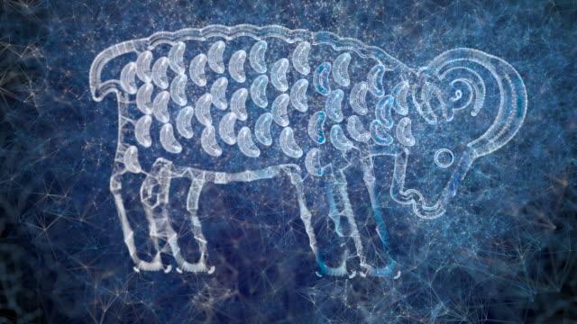 eine looping-animation des horoskops sternzeichen widder - mythologie stock-videos und b-roll-filmmaterial