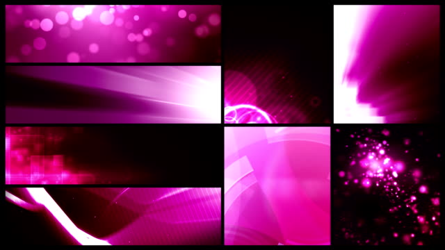 looping banner backgrounds - 24 video value pack pink - bundle stock videos & royalty-free footage