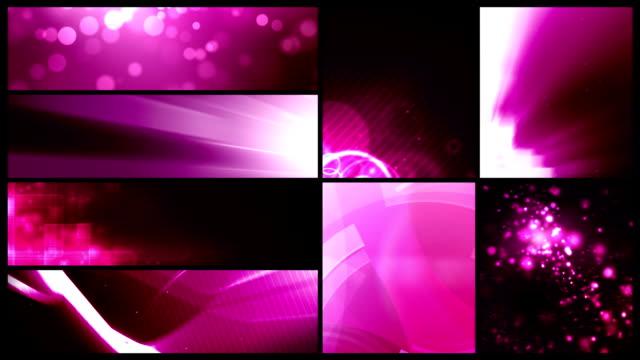 vídeos y material grabado en eventos de stock de bucle de banner de fondos de vídeo valor paquete rosa 24 - haz de luz