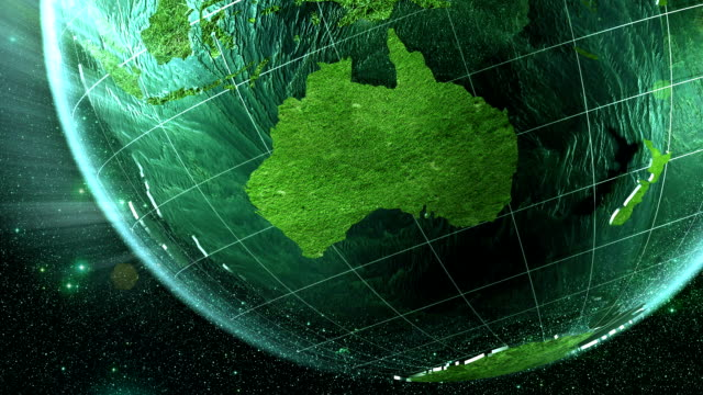 looping green earth: southern hemisphere - southern hemisphere stock videos & royalty-free footage