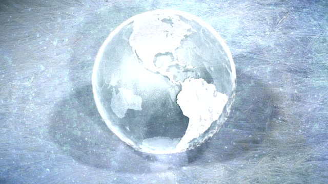 looping ice globe - ice stock videos & royalty-free footage