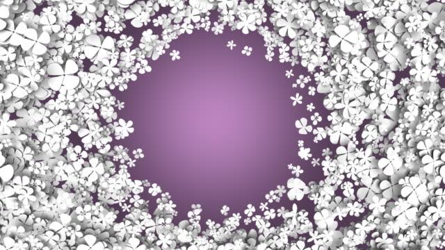 ループ状になると、スピニングの花 - 沢山の物点の映像素材/bロール