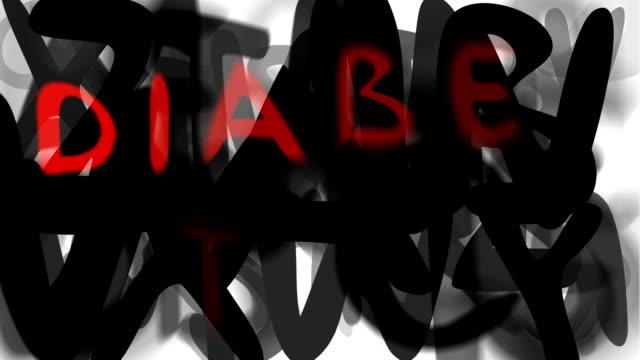 """diabete: ampio serie """"assemblare il messaggio"""" (loop) - multi layered effect video stock e b–roll"""