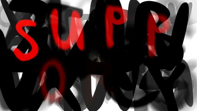 """supporto: ampio serie assemblare il messaggio """"(loop) - multi layered effect video stock e b–roll"""