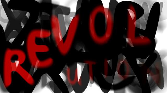 """rivoluzione: ampio serie assemblare il messaggio """"(loop) - multi layered effect video stock e b–roll"""