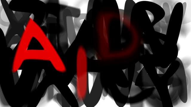 """aids: lässige, serie """"montage ihre nachricht"""" (endlosschleife) - multi layered effect stock-videos und b-roll-filmmaterial"""