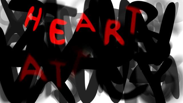 """heart attack: lässige, serie """"montage ihre nachricht"""" (endlosschleife) - multi layered effect stock-videos und b-roll-filmmaterial"""