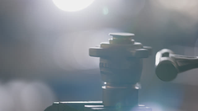 slo mo cu loosening stuck valve with hammer - strike industrial action stock videos & royalty-free footage