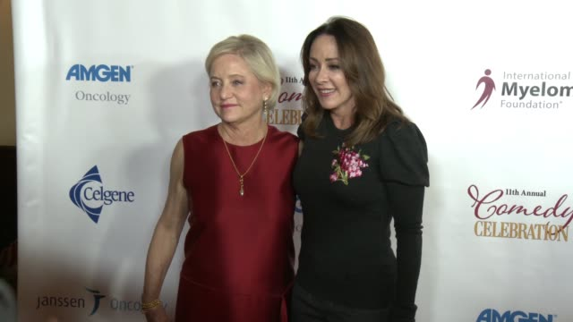 loraine boyle and patricia heaton at international myeloma foundation's 11th annual comedy celebration benefiting the peter boyle research fund at... - wilshire ebell theatre stock videos & royalty-free footage