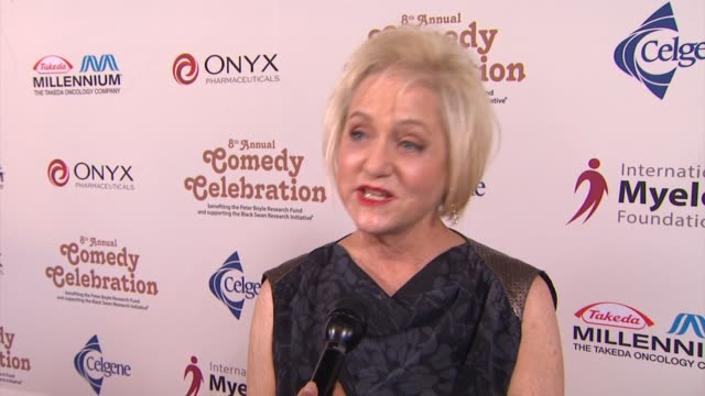 loraine boyle on the event at the international myeloma foundation's 8th annual comedy celebration benefiting the peter boyle research fund in los... - peter boyle stock videos & royalty-free footage