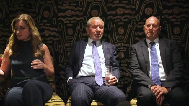 lord alan sugar karren brady and claud littner comment on brexit after the supreme court ruled that the prorogation of parliament was illegal the... - alan sugar stock videos & royalty-free footage