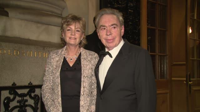 lord andrew lloyd webber lady madeleine lloyd webber at goldsmiths' hall on november 15 2017 in london england - andrew lloyd webber stock videos & royalty-free footage