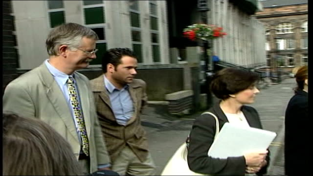 wife mary speaks for first time since husband jailed for perjury; itn scotland: strathclyde: ext lms lady archer, wife of lord archer along with son... - occurrence stock videos & royalty-free footage