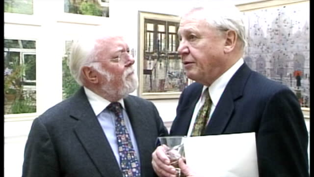 lord attenborough who won two academy awards for directing and producing gandhi in 1983 died at lunchtime on sunday shows david and richard... - directing stock videos and b-roll footage