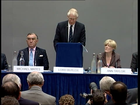 stockvideo's en b-roll-footage met lord butler press conference sot language in the dossier and used by pm may have left readers with the impression there was fuller and further... - huishoudelijke dienstverlening