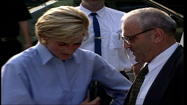 Lord Carey speaks out against Princess Diana LIB EXT Princess Diana accepting a present from man