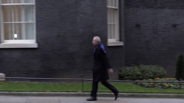 Lord Chancellor and Secretary of State for Justice David Lidington arrives at Downing Street as the cabinet reshuffle continues