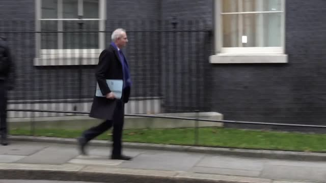 Lord Chancellor and Secretary of State for Justice David Lidington leaves Downing Street as the cabinet reshuffle continues