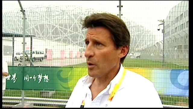 lord coe interview sot - london 2012 team are inspired by beijing games - 2008年北京夏季オリンピック点の映像素材/bロール