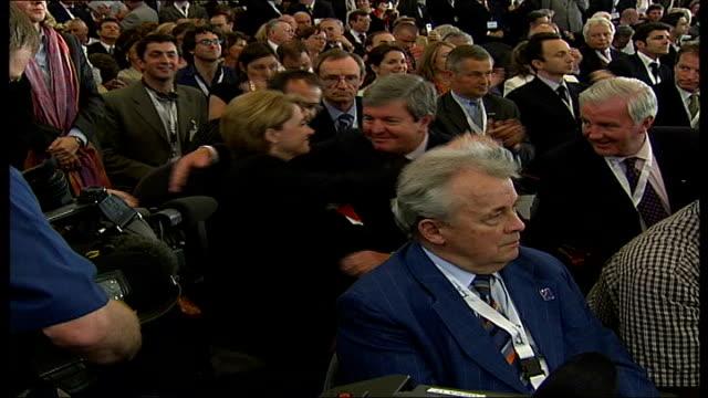 vídeos de stock, filmes e b-roll de lord coe takes over as leader of london 2012 olympic bid; lib switzerland: lausanne: int barbara cassani celebrating london thru to last five... - sebastian coe