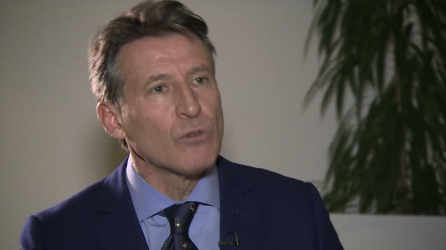 lord coe talks about how much progress russia has made in investigating and acting on the doping scandal of their athletes. - 不祥事点の映像素材/bロール
