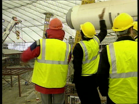 Lord Falconer visits ITN ENGLAND London Greenwich Millennium Dome Int TGV Interior of dome PAN to BV Lord Falconer looking SIDE BV Lord Falconer...